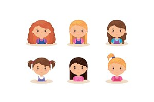 cute and little girls group