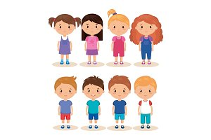 cute and little kids group