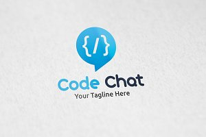 Code Chat - Logo Template