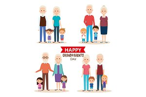 cute grandparents couple with