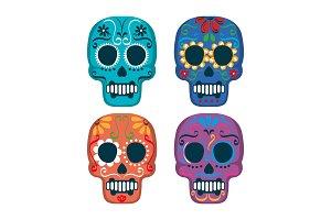 mexican culture set skull mask