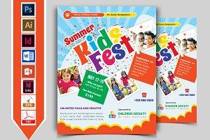 Kids Summer Camp Flyer Vol-01