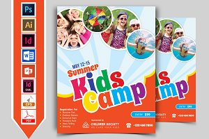 Kids Summer Camp Flyer Vol-02