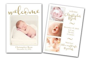 Welcome Birth Announcement Template