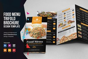 Food Menu Trifold Brochure v1