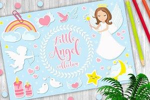 Little angel girl character set of