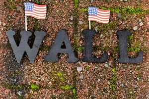 USA Border Wall background