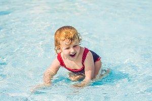 Little Girl having fun in the water