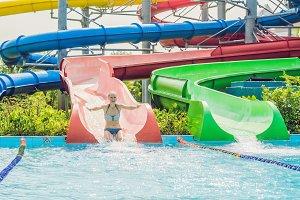 woman is having fun in the water