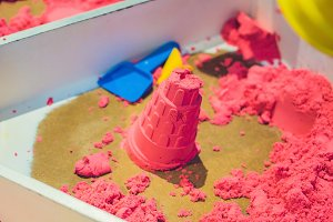 Kinetic Sand In A Heap For Indoor