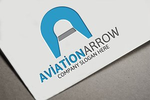 Aviation Arrow Letter A Logo