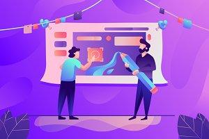 Work together in designing app