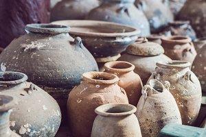 Ancient Vietnamese traditional pots