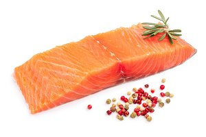 fillet of red fish salmon with