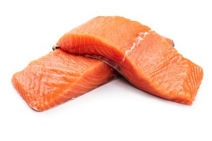 fillet of red fish salmon isolated