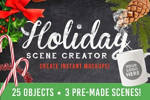 Christmas Holiday Mockup Creator