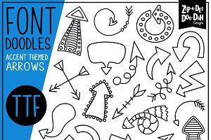 Arrows Doodle Font