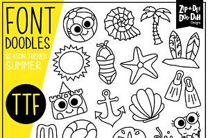 Summer Doodle Font