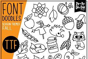 Fall Harvest Doodle Font