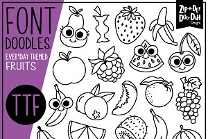 Fruits Doodle Font