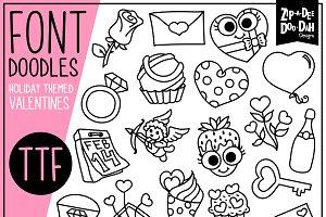 Valentine's Day Doodle Font