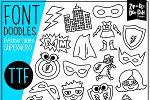 Superhero Doodle Font