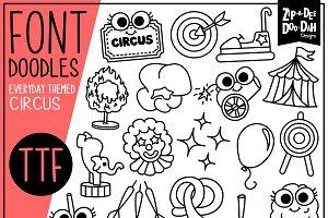 Circus Carnival Doodle Font