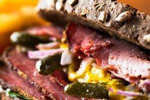 Delicious reuben sandwich