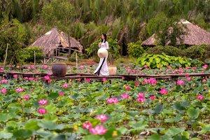 Portrait of beautiful vietnamese wom