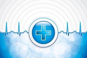 Blue medical background