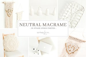 Neutral Macrame Stock Photo Bundle