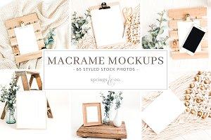 Macrame Mockups Stock Photo Bundle