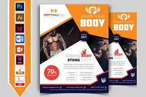 Gym & Fitness Flyer Template Vol-01