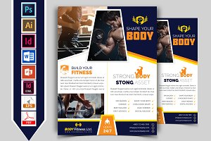 Gym & Fitness Flyer Template Vol-02