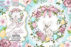 Happy Easter Wreath design