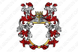 Coat of Arms Crest Knight Family