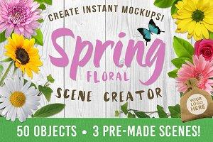 Spring Floral Mockup Creator