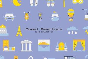 Travel Essentials Icon Collection