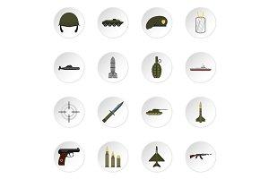 icons set, flat style