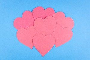 hearts blue Valentine background