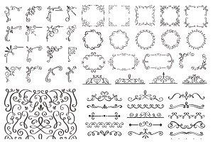 Swirl Ornaments, Corners, Dividers