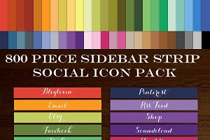 800 Social Media Icon Sidebar Button