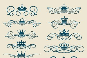 Set Vector Vintage Elements