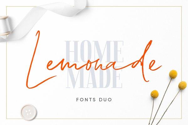 Lemonade Fonts Duo