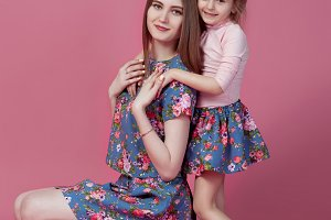 Mother with daughter happy together