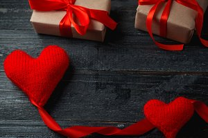Valentine's day background with copy