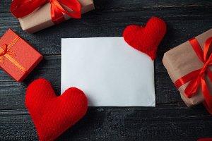 Happy Valentine's day background wit