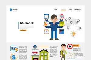 Flat insurance service website