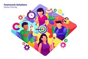 Team Solutions - Vector Illustration