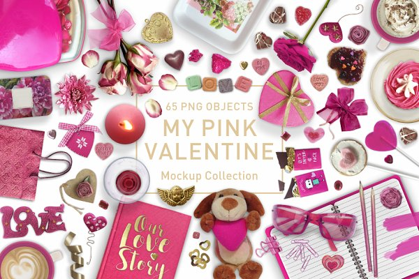 My Pink Valentine Mockup Collection